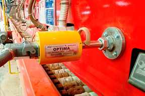 OPTIMA® Analyzer installed in the kiln wall